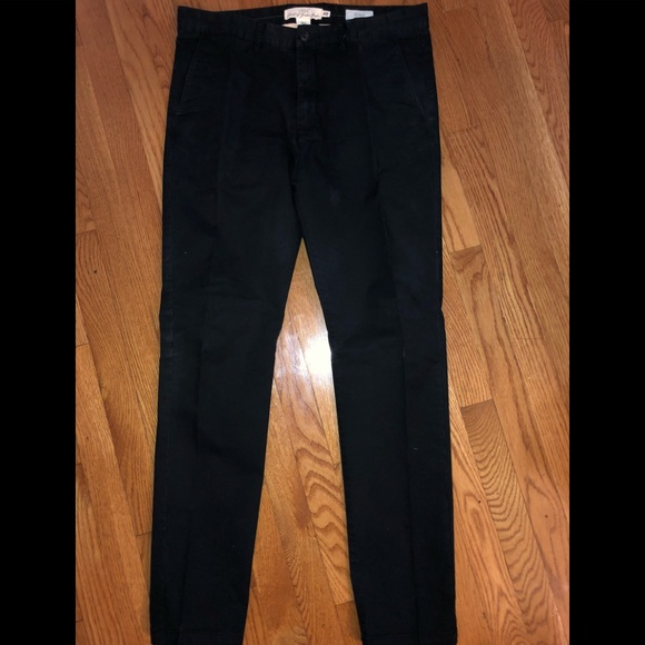 highly praised detailed look search for latest H&m LOGG skinny fit black chino pants